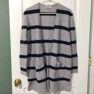 Madewell Long Striped Cardigan Sweater